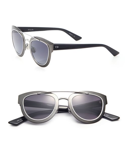 Dior | Black Chromic 47mm Cat's-eye Sunglasses | Lyst