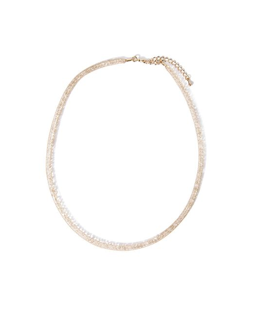 Forever 21 | Metallic Faux Crystal Tube Necklace | Lyst