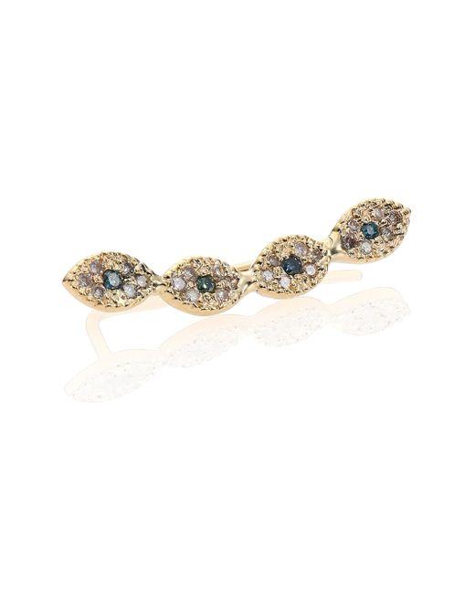 Jacquie Aiche | Metallic Multicolor Diamond & 14K Yellow Gold Mini Eye Single Ear Cuff | Lyst