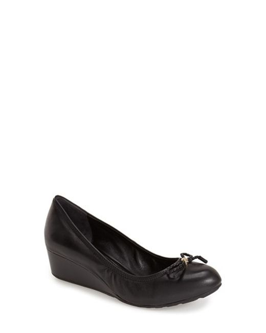 Cole Haan | Black Tali Round-Toe Wedge Pumps  | Lyst