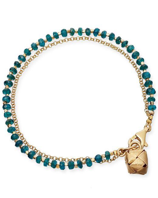 Astley Clarke | Metallic Ocean Quartz Water Element Double Row Biography Bracelet | Lyst