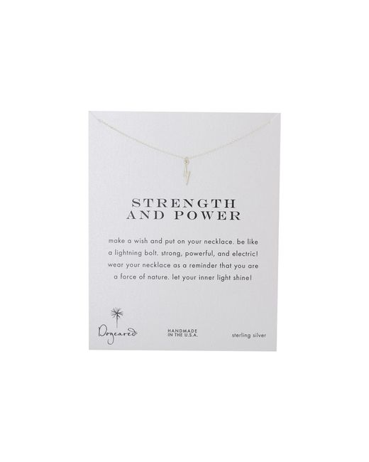 Dogeared | Metallic Strength And Power Reminder | Lyst