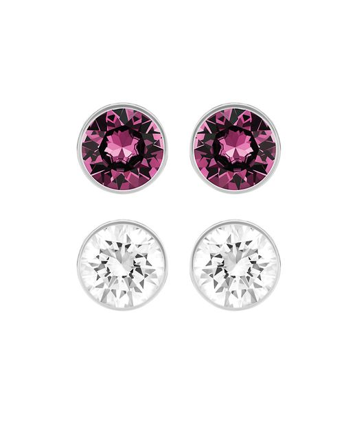 Swarovski | Metallic Harley Two-piece Crystal Stud Set | Lyst
