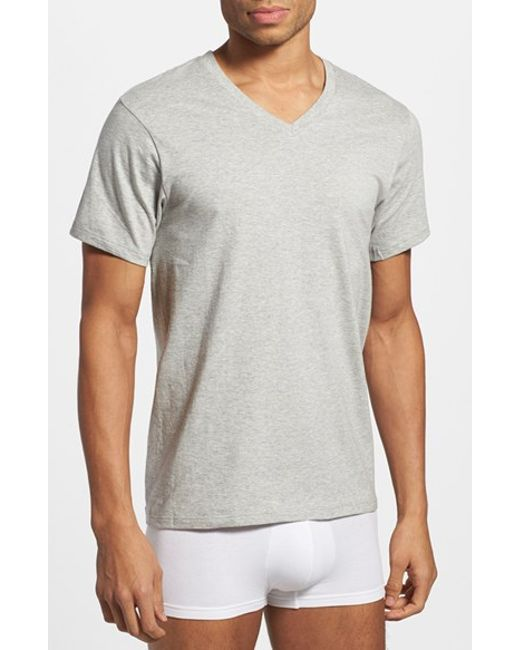 Calvin Klein Assorted 3 Pack Classic Fit Cotton V Neck T