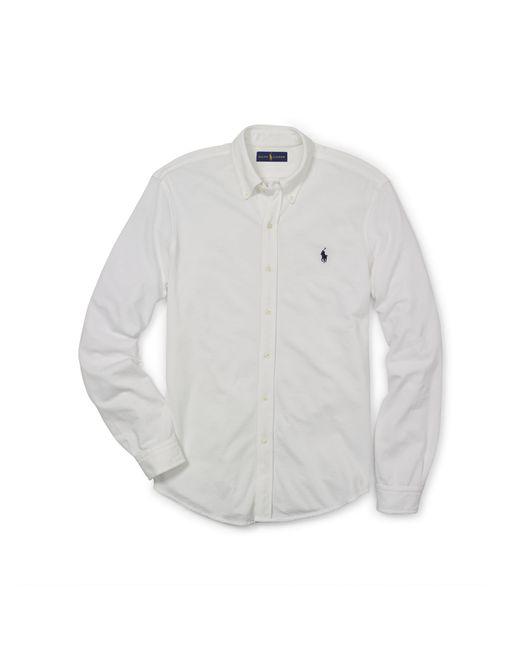 Polo Ralph Lauren | White Featherweight Mesh Shirt for Men | Lyst