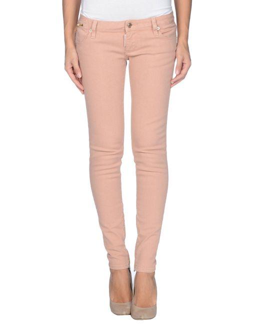 Dsquaredu00b2 Denim Pants in Pink (Skin color) | Lyst