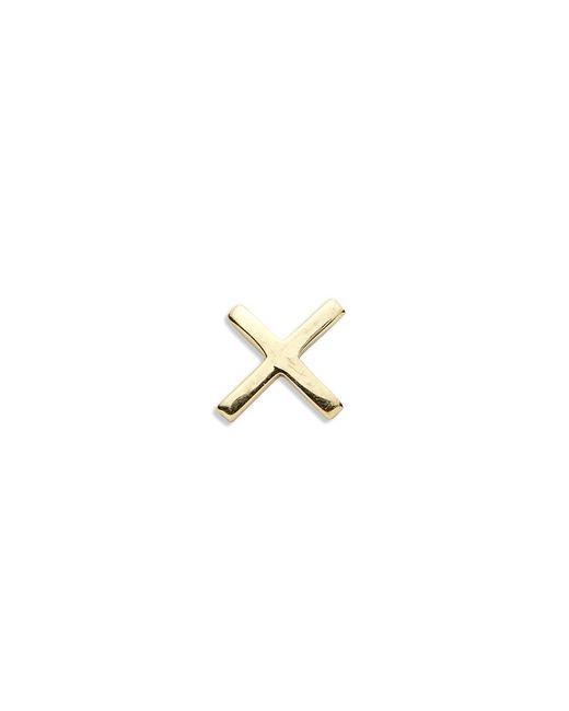 Loquet London | Metallic 18k Yellow Gold Cross Charm - Give A Kiss | Lyst