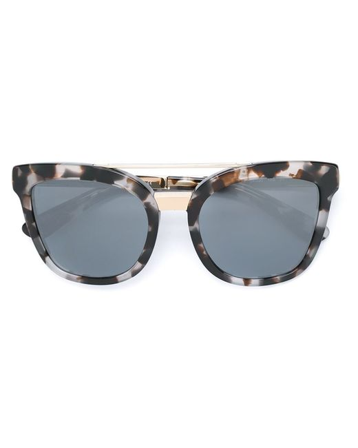 Dolce And Gabbana Gold Frame Sunglasses : Dolce & gabbana Oval Frame Sunglasses in White Lyst