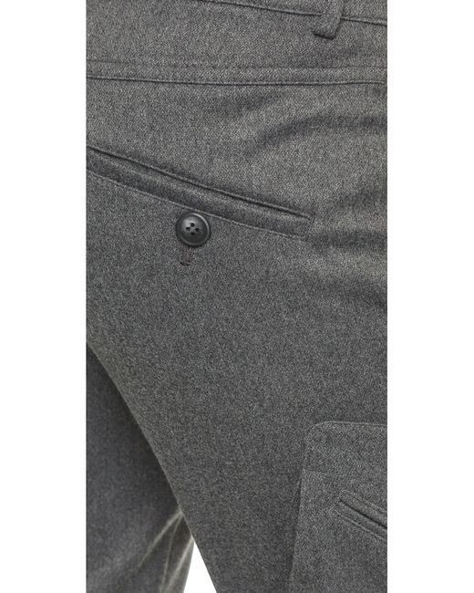 James Jeans | Gray Slouchy Fit Utility Cargo Pants | Lyst