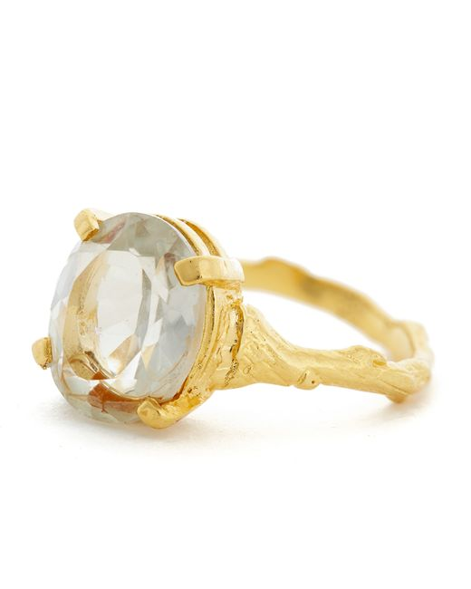 Chupi | Metallic Drop In The Wild Ring With Prasiolite & Gold | Lyst