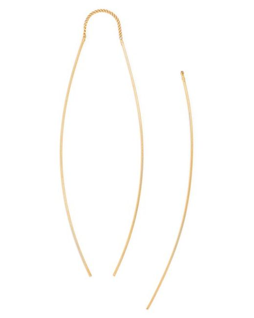 BaubleBar | Metallic Delicate Double Drop Earrings | Lyst