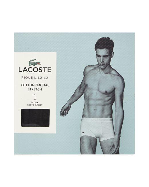 Lacoste | Black Pique Classic Plain Trunk for Men | Lyst
