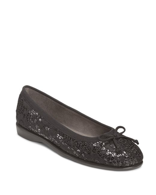 Aerosoles | Black Teashop Flats | Lyst
