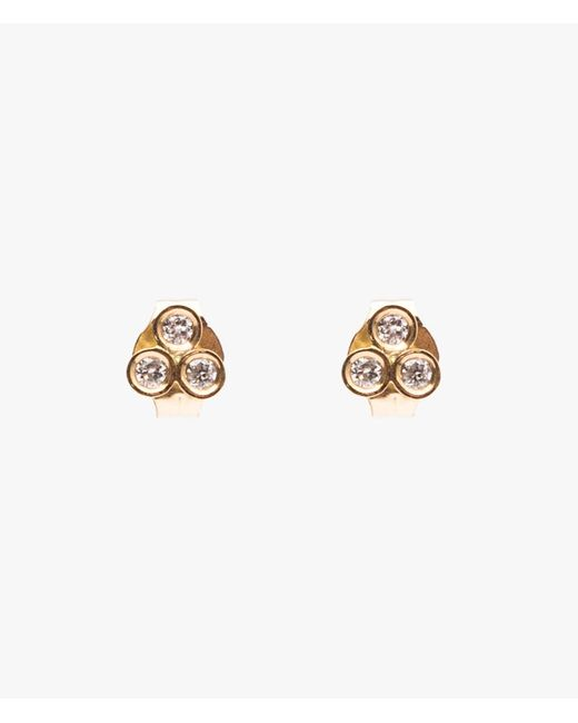 Ariel Gordon | Metallic Mini Diamond Triad Studs | Lyst