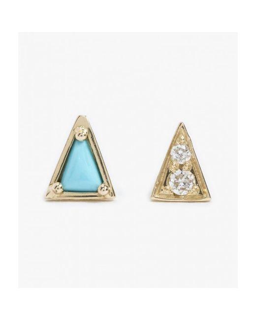 Mociun | Blue Turquoise Mismatched Studs - Pair | Lyst