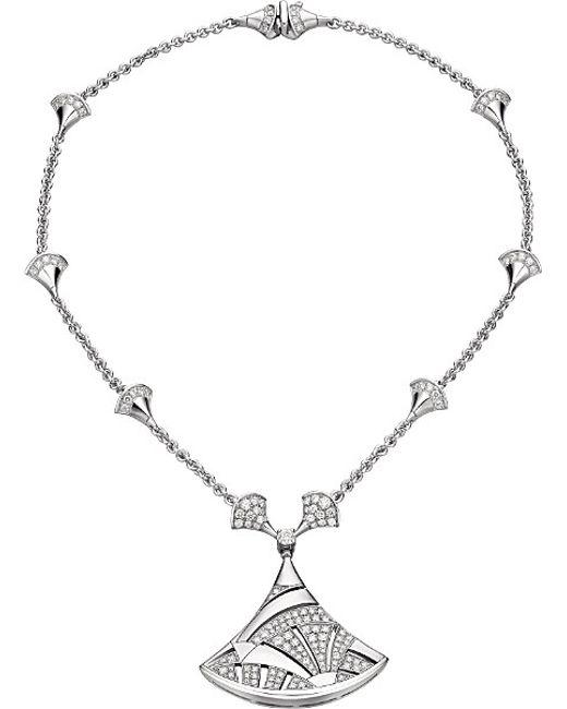 BVLGARI | Metallic Divas' Dream 18kt White-gold And Diamond Necklace | Lyst