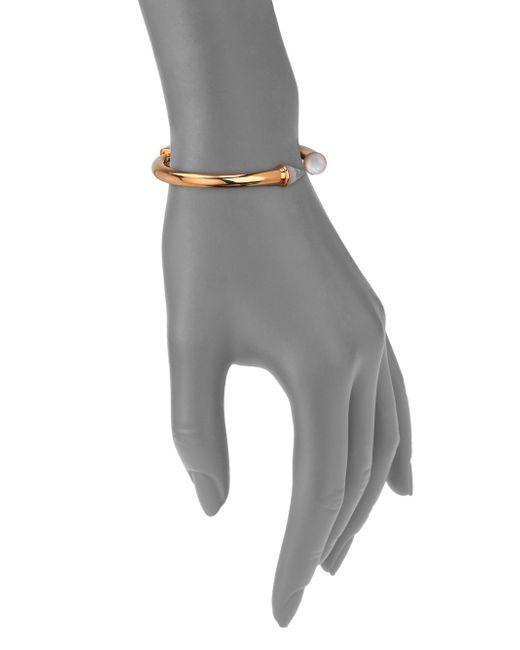 Vita Fede | Metallic Mini Titan Mother-Of-Pearl & Crystal Cuff Bracelet | Lyst