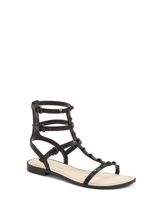 Rebecca Minkoff | Black Georgina Studded Sandal | Lyst