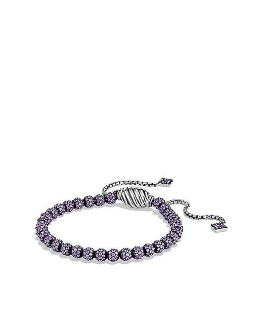 David Yurman | Bracelet With Purple Sapphire | Lyst