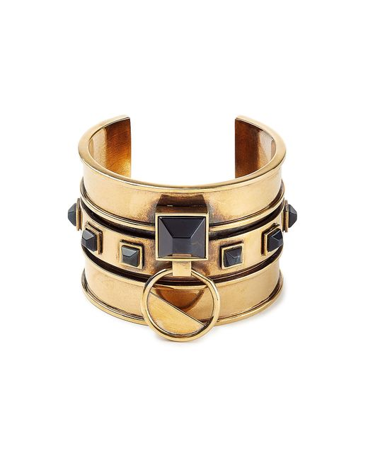 Alexander McQueen | Metallic Embellished Brass Bangle - Gold | Lyst