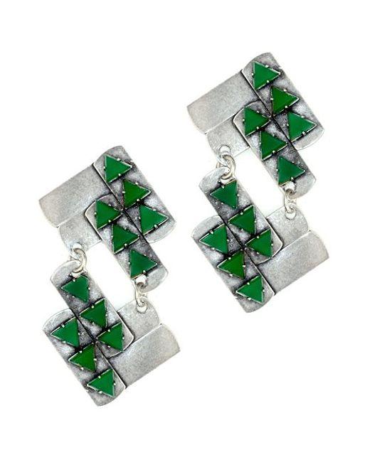 Nicole Romano | Green Nuwa Earrings | Lyst
