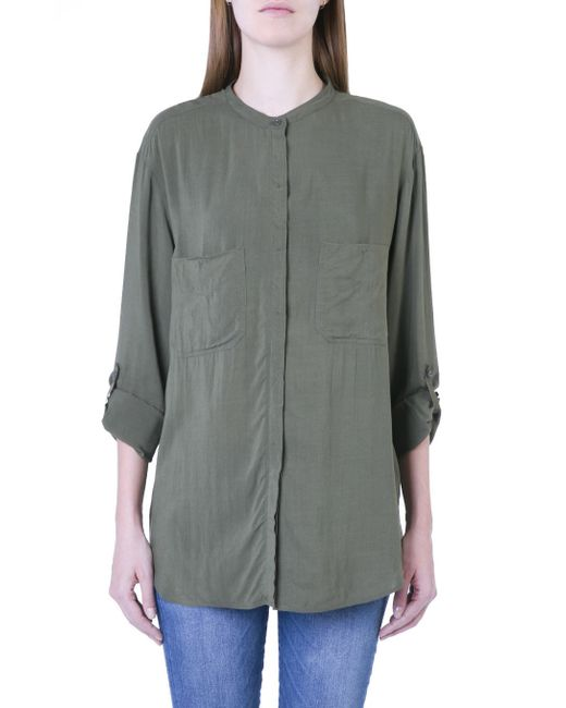 7 For All Mankind | Green Boyfriend Shirt Military | Lyst