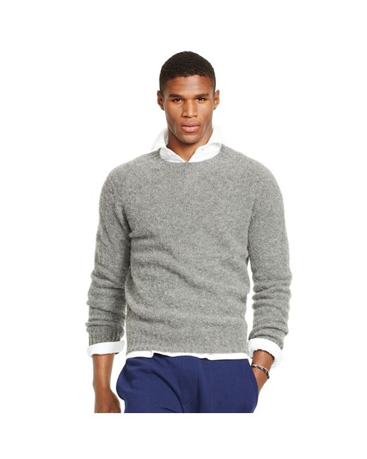 Polo Ralph Lauren | Gray Shetland Wool-cashmere Sweater for Men | Lyst