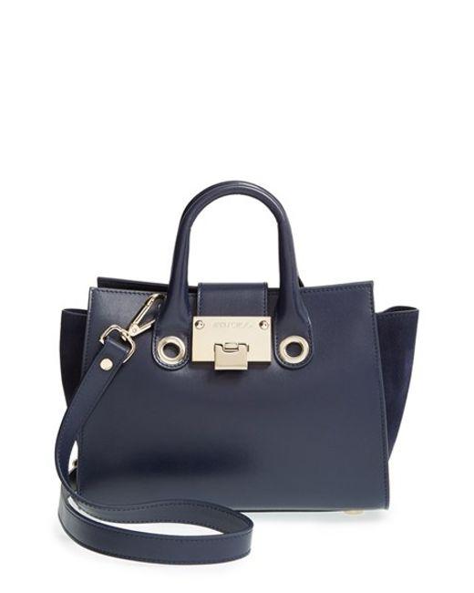 Jimmy Choo   Blue 'mini Riley' Leather Crossbody Bag   Lyst