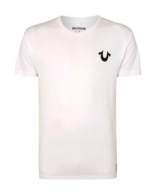 True Religion | White Regular Fit Traditional Logo T Shirt for Men | Lyst