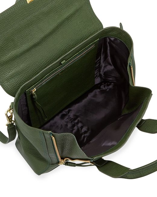3.1 phillip lim Pashli Medium Zip Satchel Bag in Green - Save 31 ...