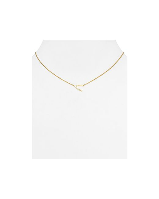 Jennifer Zeuner | Metallic Lily Mini Wishbone Necklace, 16"