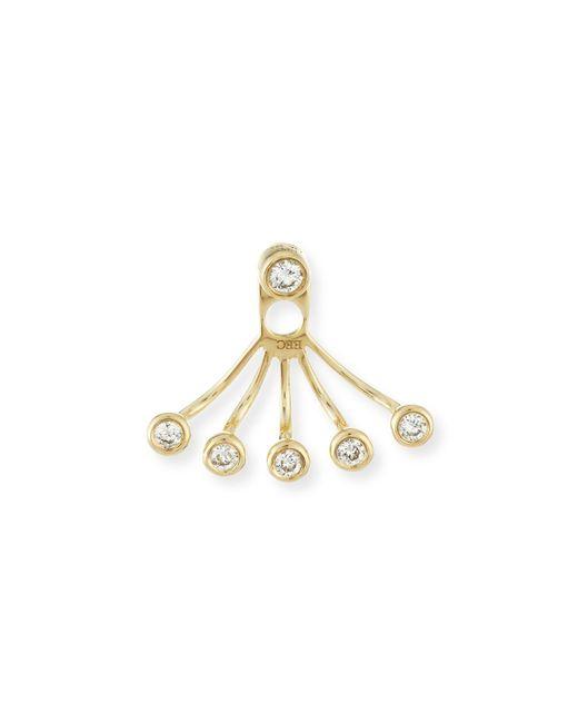 EF Collection | Metallic Bezel-set Diamond Jacket Earring | Lyst