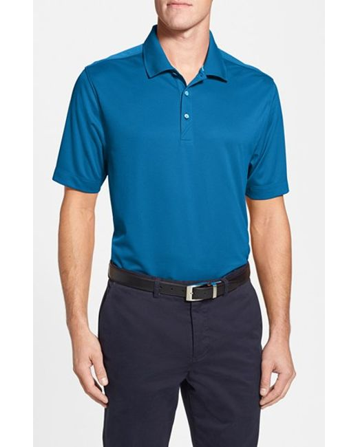 Cutter & Buck | Blue 'glendale' Drytec Moisture Wicking Polo for Men | Lyst