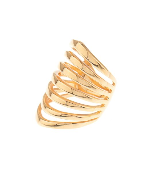 Theodora Warre | Yellow Gold-plated Multi-bar Ring | Lyst