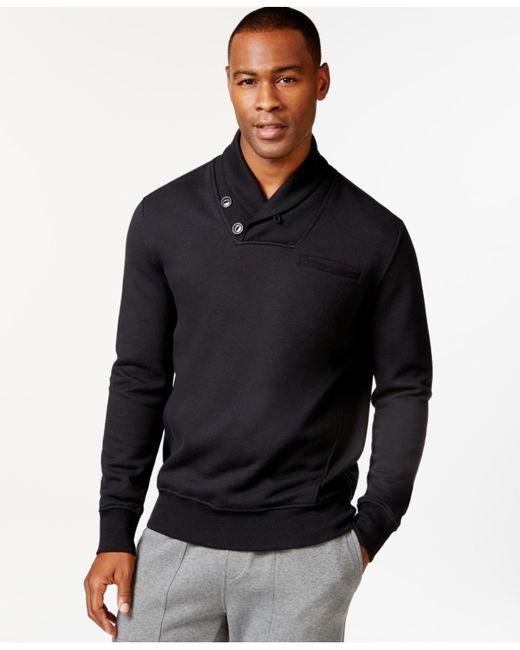 Sean John | Black Alpha Shawl Collar Sweatshirt, Only At Macy's for Men | Lyst