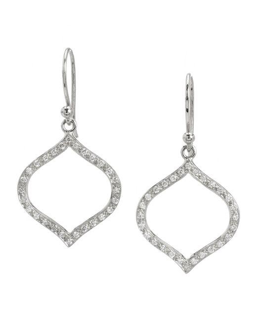 Elizabeth Showers | Metallic White Sapphire Simone Silhouette Dangle & Drop Earrings | Lyst