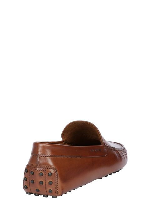 Tod's | Brown Gommino Oiled Leather Driving Shoes for Men | Lyst