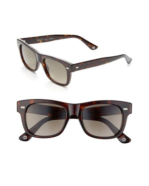 Gucci | Brown 52mm Sunglasses for Men | Lyst