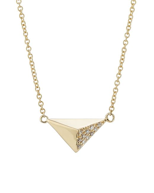 Ileana Makri | 18kt Yellow Gold Necklace With White Diamonds | Lyst