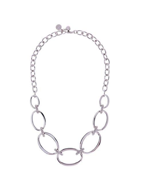 Karen Millen | Metallic Oversize Chain Necklace | Lyst