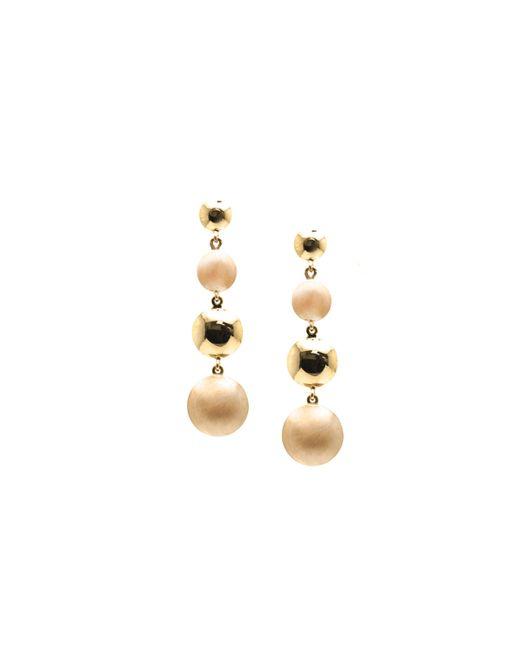 Trésor | Metallic Lente Tier Earrings In K With Satin And Shiny Finish | Lyst