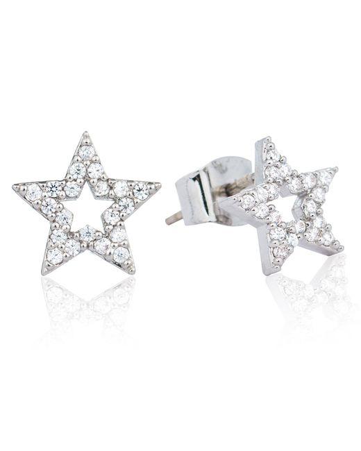 Astrid & Miyu | Metallic Tricks Star Stud Earrings Silver | Lyst