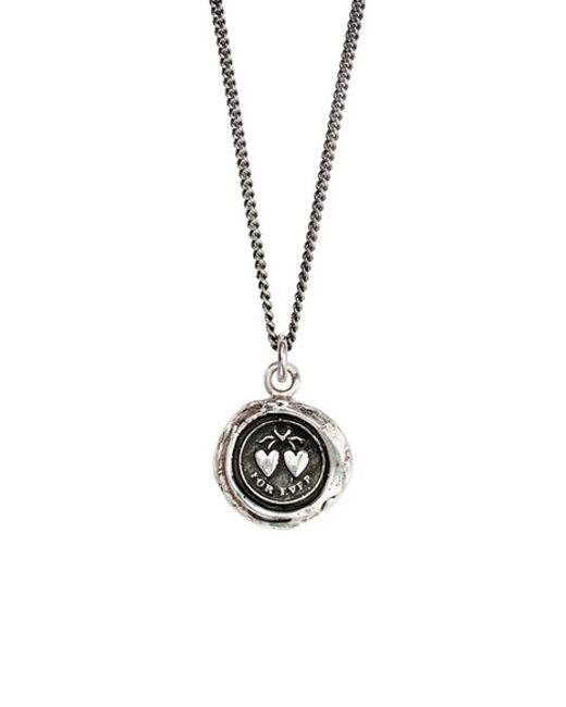 Pyrrha | Metallic Hearts Talisman Necklace | Lyst