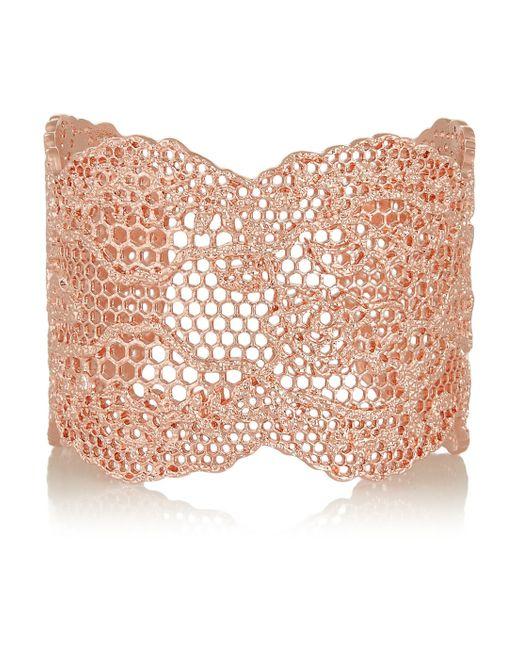 Aurelie Bidermann | Pink Laser Cut Vintage Lace Cuff | Lyst
