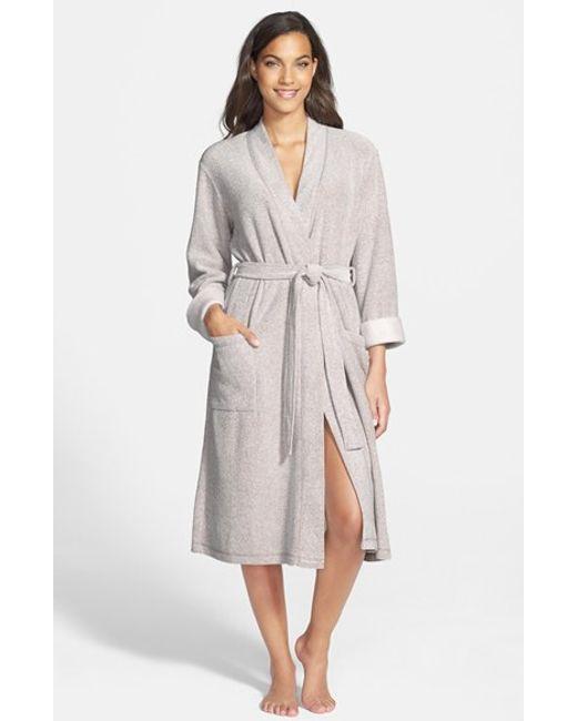 Natori | Gray 'nirvana' Midi Robe | Lyst