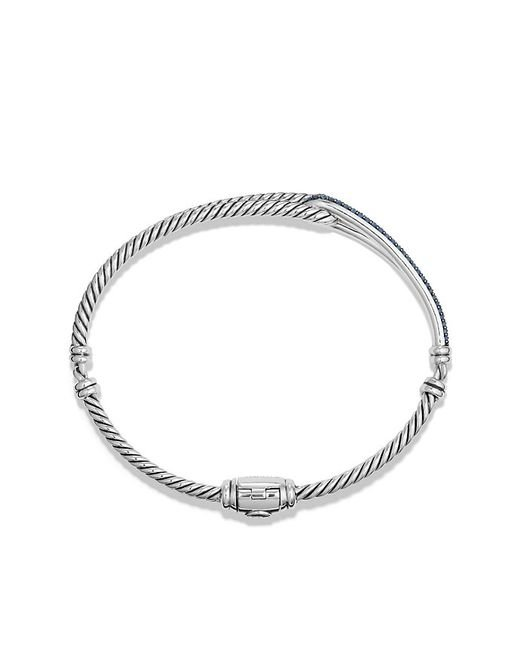 David Yurman | Petite Pavé Labyrinth Single-loop Bracelet With Blue Sapphires, 7mm | Lyst