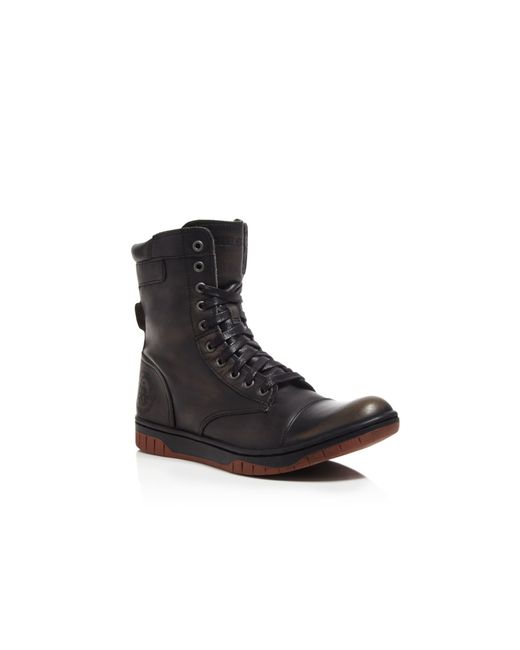 DIESEL | Black Tatradium Basket Butch Zip Boots for Men | Lyst