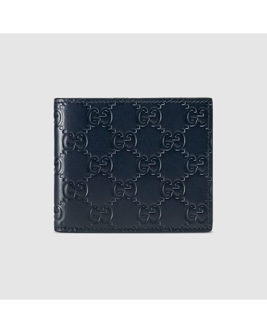 54d6b64cba40 Gucci Signature Wallet Blue | Stanford Center for Opportunity Policy ...