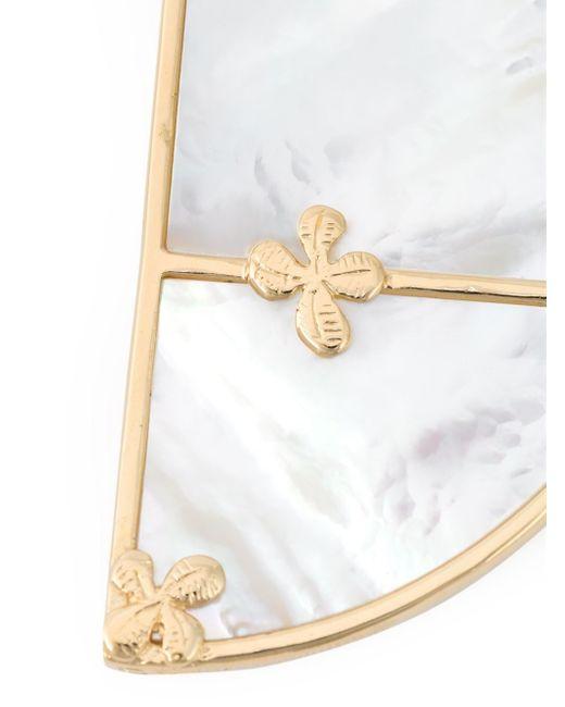 Aurelie Bidermann   Metallic 'bianca' Reversible Hoop Earrings   Lyst
