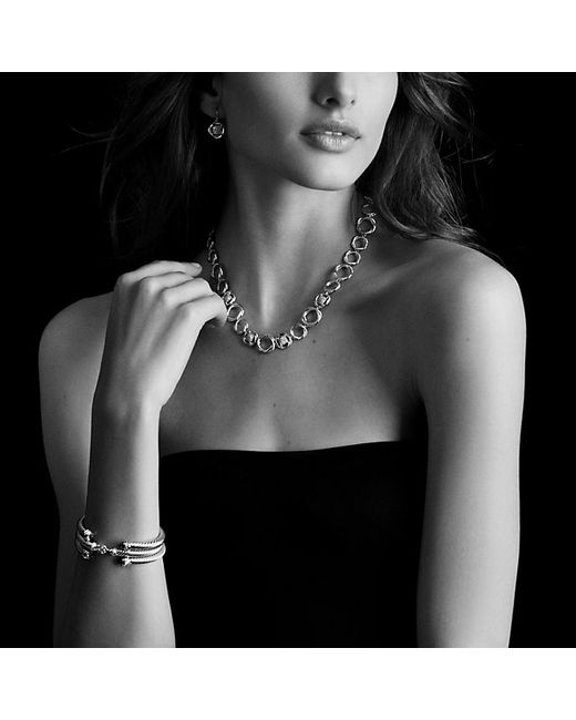 David Yurman | Metallic Cable Classics Bracelet With Prasiolite And Diamonds, 5mm | Lyst